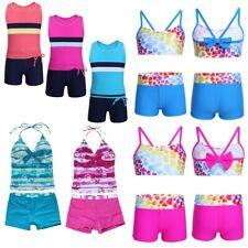 Girls Swimwear Swimsuit Kids Teen Top+Shorts Outfit Surfing Costume Beachwear