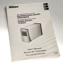 Nikon LS-5000 and LS-50 V Coolscan Scanner Original Manual English, FR & Spanish