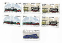 Poland postage stamps x 7, Trains