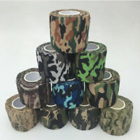 Non-woven Camouflage Self-adhesive Tape Wrap Rifle Gun Hunting Camo Tape MP