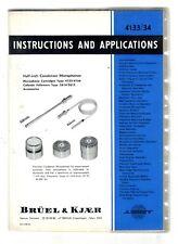 BRUEL & KJOER - 4133 / 34 - INSTRUCTION AND APLICATIONS