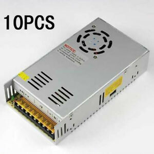 10Pcs DC 12V 30A Regulated Switching Power Supply for 5050 3528 LED Strip Light