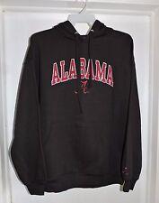 Alabama Crimson Tide Men's Double Time Hoodie Hooded Sweatshirt-Black Large NWT