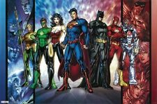 DC COMICS HEROES POSTER Group Cast RARE HOT NEW 24x36