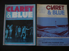 Burnley v Cardiff City 1976/77 Official Football Programme