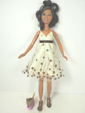 """10"""" High School Musical Doll, """"Gabrielle"""", with  Pet dog. Beige and Brown Dress"""