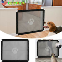 Dog Cat Pet Baby Gate Retractable Fence Child Protection Door Isolated Barrier