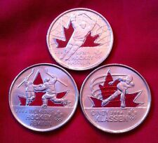 2010 Canada Olympic Colored Moments Quarter Coin Collection BU Mint