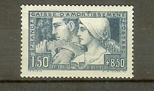 """FRANCE STAMP TIMBRE N° 252 """" CAISSE AMORTISSEMENT LE TRAVAIL 1928 """" NEUF xx SUP"""