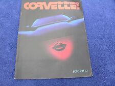 Corvette News - Summer 1987, 1987 Model Year