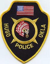 HUGO OKLAHOMA OK indian POLICE PATCH