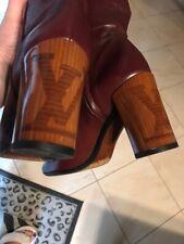 Louis Vuitton Boot 37 Podium Authentic jackboots, burgundy color 1900$