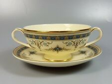 MINTON GRASMERE CREAM SOUP COUPE / CUP AND SAUCER (PERFECT)