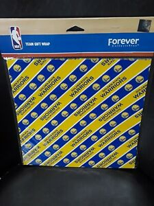 Lot of 2 NBA Basketball Holiday Birthday Golden State Warriors team gift wrap