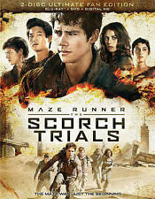 Maze Runner: The Scorch Trials Blu-ray Disc 2015 2-Disc Set Digital Copy NEW