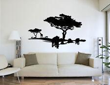 Premiumdesign Wandtattoo Afrika Wüste Löwen Tiere schwarz 100 x 60cm Motiv #86