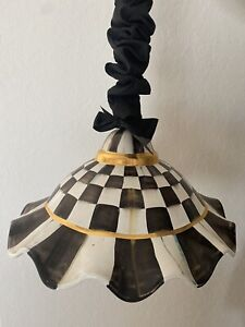 mackenzie childs Fluted hanging courtly check lamp