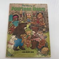 THE STORY of FOURTEEN BEARS Evelyn Scott Big Golden Book 1969 HC Seasons