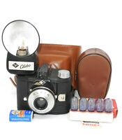 Vintage#agfa_clack 6x9cm film camera#Cibo_flash#Philips_flash_lamps,cases