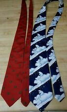 Great gift item!  2 Christmas ties Coca Cola Bear plus red treed