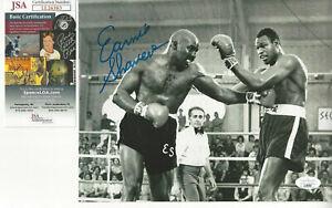 Great Puncher Ernie Shavers autographed 8x10 action photo vs Larry Holmes JSA