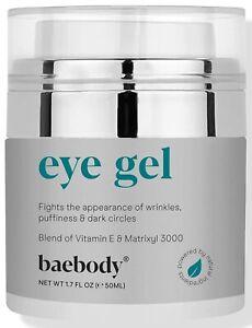 Baebody Eye Gel for Under and Around Eyes to Smooth Fine Lines, Brighten Dark Ci
