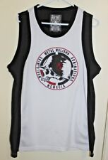 Metal Mulisha Men's Sz Medium Jersey Tank Top Black White Embroidered Medium