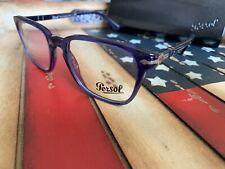 Persol 3117V 1015 Cobalto Eyeglasses 51MM Men's Optical Frame, Option To Add RX