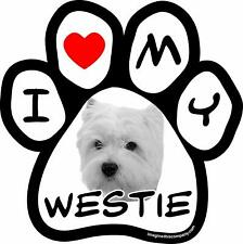Imagine This 5-1/2-Inch by 5-1/2-Inch Car Magnet Picture Paw, Westie