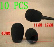 10 x Black Microphone Headset Windscreen Foam Mic Cover 40x12 mm
