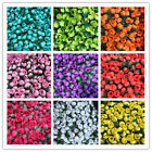 100x Small Mini Satin Ribbon Flowers Rose Wedding Decor DIY Wedding Party Decor