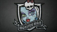 MONSTER HIGH FRANKIE STEIN FACE EMBROIDERED PATCH BADGE SEW OR IRON ON