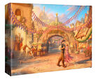Thomas Kinkade Studio Rapunzel Dancing in the Sunlit Courtyard 8 x 10 Wrap
