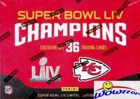 2020 Panini Kansas City Chiefs EXCLUSIVE Super Bowl 54 Champs Box Set- MAHOMES++