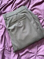 Mens 36w Meyer Trousers New Wool 36/30 Rare Madrid Grey Pants Slacks Formal 36s