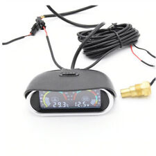 2in1 Universal Horizontal 12V/24V Digital Car Voltmeter Water Temperature Meter