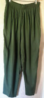 Melrose Options Olive Green High Waist Baggy Pull On Pants Vintage Size Medium