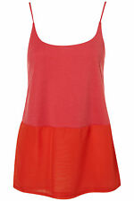 TopShop Women's Casual Semi Fitted Strappy, Spaghetti Strap Tops & Shirts