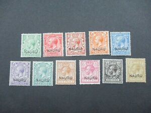 Naru Stamps: Overprint Set  Mint   - Rare   (g174)