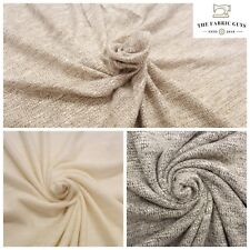 Premium Knitted Rayon Slub Fabric, Soft Woven,3 Colours, 165cm, 210GSM,Stretch