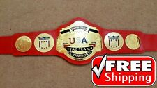 NWA US TAG TEAM Championship Belt Title Gold Plated 4mm Adult Size