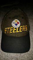 Vintage Pittsburgh Steelers Pro Line Hat/Cap  Strapback Black Gold Plaid. NFL