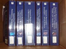 Peterson's Gradute Program Catalog complete 6 volume set.  1998