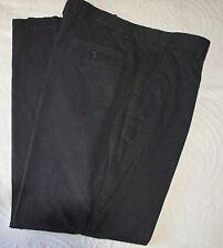"Mens Gap Pants Dark Gray Textured Cotton Slack Trouser Dress Straight Fit 36x34"""