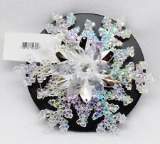 1 Bath & Body Work SNOWFLAKE Candle Lid Topper Magnet Decor Accessory Gift