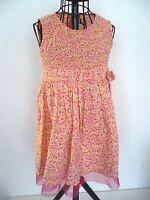 robe ♥ LITTLE WILLOW BLOSSOM ♥  3 / 4  ans fleurie rose jaune saumon  100% coton