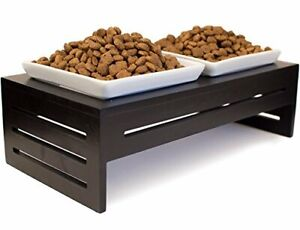 Prosperdog Ceramic Double Bowl Set for Small to Med. Dogs and Cats