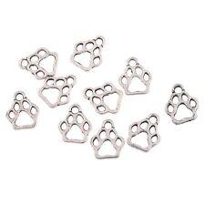 20pcs Dog Paw Charms Antique Tibetan Silver Tone Dog Paw charm pendants 11x10mm