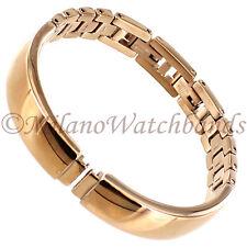 8mm Glam Rock High Quality Elegant Rose Gold Tone Ladies Watch Band GBBG01SY