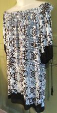 "Max Studio 42"" B M-L Off Shoulder Tunic Dress Loose Fit Spring Summer Holiday"